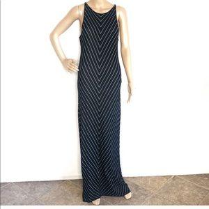Lauren Ralph Lauren Black Striped Maxi Gown